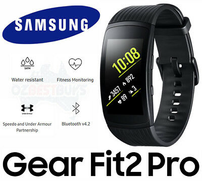 Samsung Gear Fit2 Pro Fitness Sports Band Smart Watch Large Black SM-R365