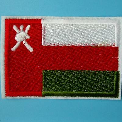Oman Flag Iron Sew on Patch Embroidery Applique Badge Motif Nation Country Biker
