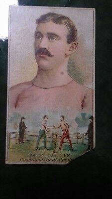 Boxing Cigarette Card,w.s.kimball ,champions Of Games & Sports,patsy Cardiff
