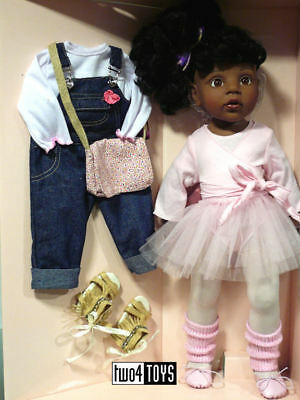 """Gotz AFRO AMERICAN HANNAH AT THE BALLET PLAY DOLL - 50 cm/ 19.8"""" - NRFB"""