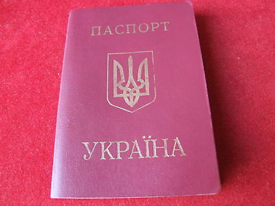 Reisepass Pass Passport Ausweis Ukraine заграничный паспорт 1997 EU Visum CZ