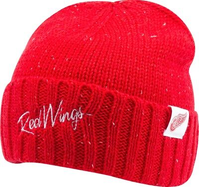 Mitchell & Ness Detroit Red Wings TC Heather Script Beanie Hat - Red