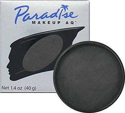 Mehron Makeup Paradise AQ Face & Body Paint, BLACK: Basic Series, 40gm