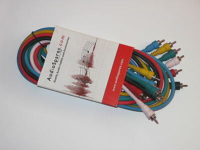 Microphone Professional Colour coded Cables, AudioSpares AS-CA-PMPM-CO6-0150