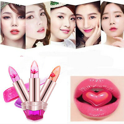 Flower Lipstick Jelly Transparent Changing Color Lip Balm Temperature Beauty