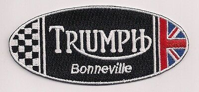 Triumph Motorcycles Bonneville Oval Patch In Red, White, Blue, And Black