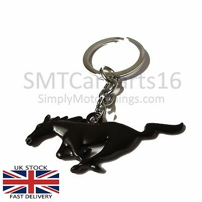 Genuine Black Ford Mustang Key Fob Key Ring Matte finish Eco Boost GT Pony 2017
