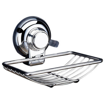 Stainless Steel Soap Dishes Suction Cup Hook Holder Soap Bath PK N8T6