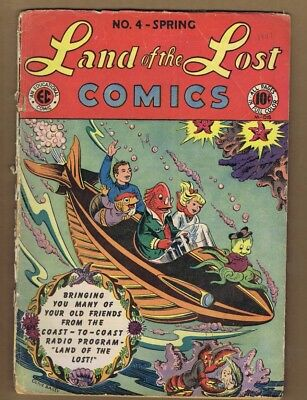 Land of the Lost Comics #4 (FR-) E.C. 1947 Golden Age Olive Bailey (c#16555)