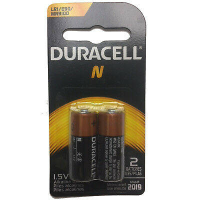 2pk Duracell 1.5V N Size Alkaline Battery Medical LR1 E90 MN9100 910A LR1SG 4001