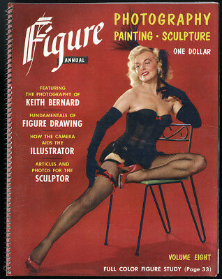 1950s Figure Annual Pin Up Magazine Photography Nude Diane Webber Tura Satana