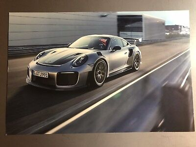 2017 Porsche 911 GT2 RS Coupe Showroom Advertising Poster RARE!! Awesome L@@K