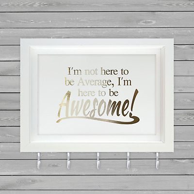 Be Awesome Quote - Medal Hanger/Holder - Sport Gift - UK Seller * Free p&p
