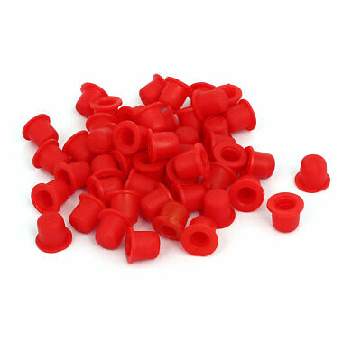 DR M10 Flange Mounted Tapered Caps Tube End Insert Red 50pcs