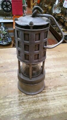 Vintage Miners Permissible No.209 Koehler Flame Safety Lamp .