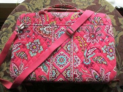 Pretty Vera Bradley Coral Hard Computer Laptop Case Bag Hand &  Shoulder Strap