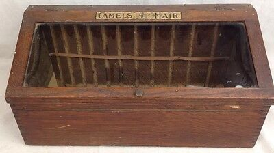 Antique Camels Hair Lisle General Store Counter Box Display Case advertising