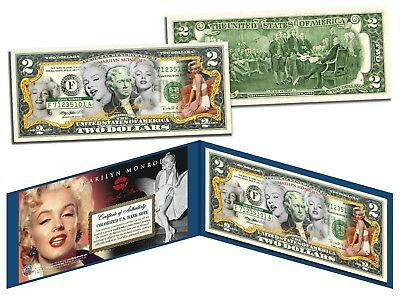 MARILYN MONROE * Multi-Image * Genuine Legal Tender U.S. $2 Bill * LICENSED *