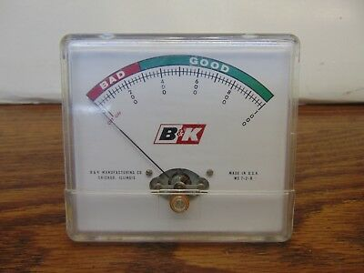 B&K ME-7-2-B panel meter for Vacuum Tube Tester