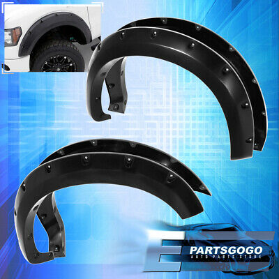 For 09-14 Ford F150 Svt Raptor Paintable Pocket Rivet Style Wheel Fender Flares