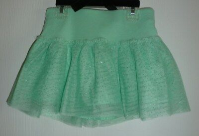 Girls Justice Mint Green Size 6 Skort (skirt with built-in shorts)with sparkles
