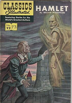 Classics Illustrated Number 99. Hamlet.  Strato. Uk Edition. Shakespeare