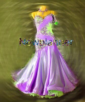U6047 Sepcial color Women Ballroom tango waltz Foxstrot dance dress Custom made