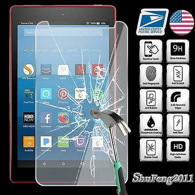 Tempered Glass Screen Protector For Amazon Kindle Fire HD 8 2017 7th Gen Tablet