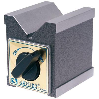 2.87 X 2.13 X 2.76 Magnetic V-Block With Switch (3402-0995) - Made In Taiwan
