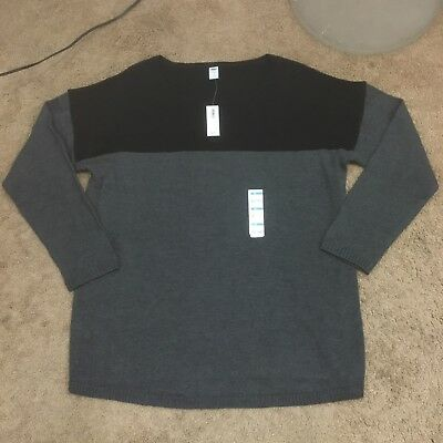Nwt Old Navy Womens XLARGE Gray Black Maternity Sweater