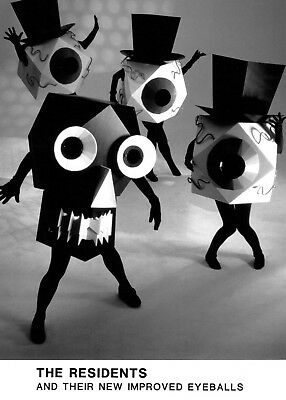 The Residents - Awesome b/w Promo Press Photo