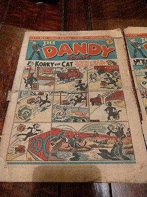 1942 dandy comic's September and March ww2 war issue