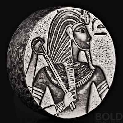 2016 5 oz .999 Silver Republic of Chad King Tut Coin by Scottsdale Mint