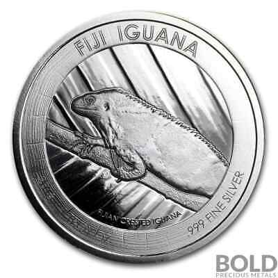2016 1 oz .999 Silver Fiji Crested Iguana Prooflike Coin by Scottsdale Mint