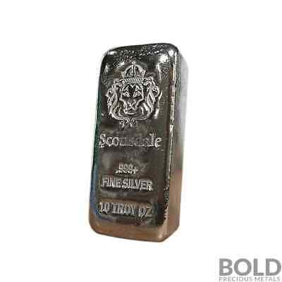 "10 oz .999 Silver ""Chunky"" Cast Bullion Bar by Scottsdale Mint"
