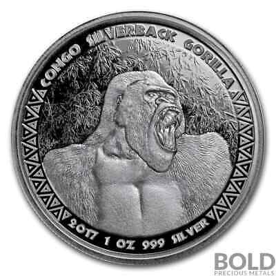 1 oz Republic of Congo Gorilla 2017