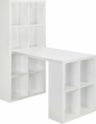 Home Hobby Table Craft Supplies Storage Furniture Cabinet White Sewing Desk