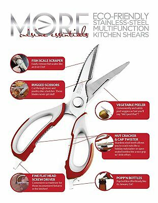 Kitchen Shears Chef Cut Scissors Cooking Stainless Steel Blade Herb Muti  Tool