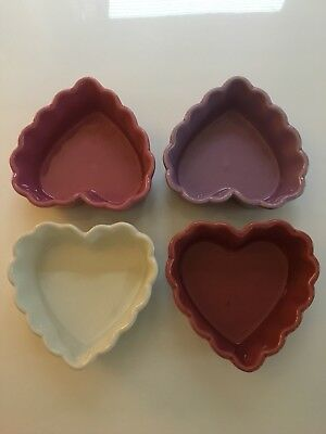 Williams Sonoma Heart Shaped Ramekins X 4 Never Used