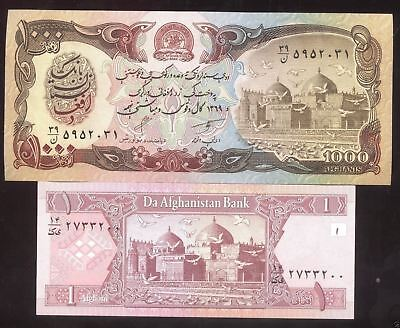Rare Old AFGHANISTAN Note Desert Storm Taliban Army Currency Bank Note Money Lot