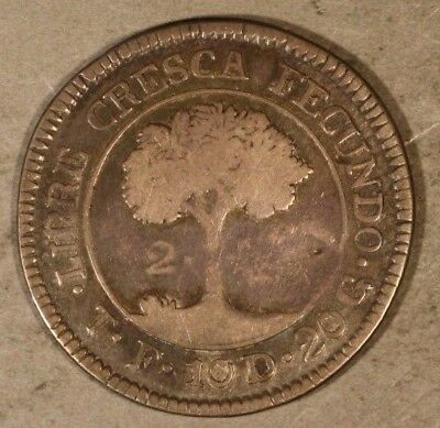 1831-TF Central American Republic 2 Reales Silver Coin  ** FREE U.S. SHIPPING **