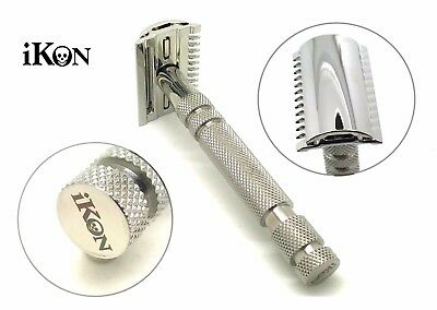 iKon OSS Stainless Razor Safety Razor Handle & Open-close comb head