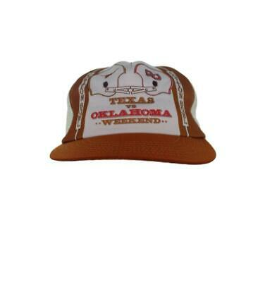 Texas Longhorns vs Oklahoma Sooners - Vintage 1980s  Cotton Bowl Mesh Snapbac...