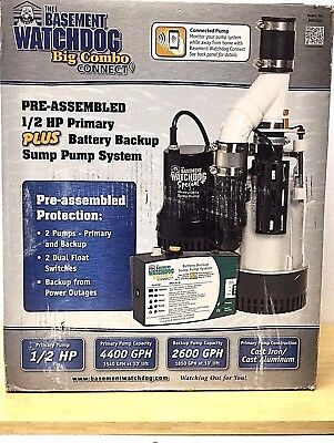 Niob The Basement Watchdog Big Combo Connect Sump Pump System Bw4000