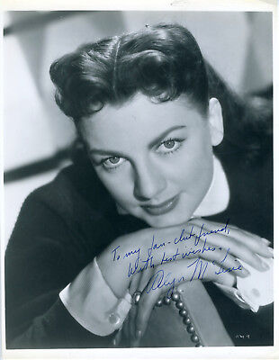 ALLYN McLERIE ALL THE PRESIDENT'S MEN ACTRESS SIGNED PHOTO