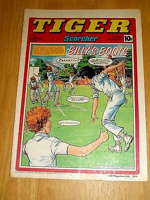Tiger Comic 1979 With Gloucestershire C.c.c Poster & G.b. Rugby League Poster