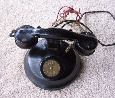 Antique Black REAL PHONE Telephone~Vintage American Automatic Electric Sales Co