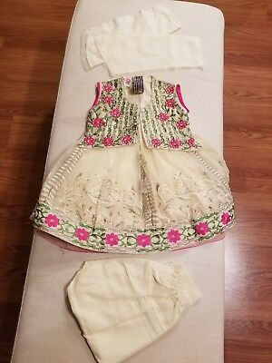 2pc Girls Kids Pakistani Indian fancy party wear with FREE Bangles