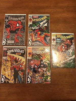"Lot of 5 Mint Spider Man ""Torment"" Issues #1 - #5 - Marvel Todd McFarlane 1990"