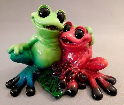 "Kitty's Critters ""in Love"" Frog Figurine 2007 ~ Mint Cond."